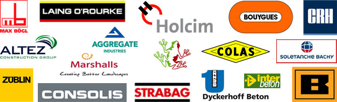 References: Holcim, Max Bögl, Laing O'Rourke, Bouygues